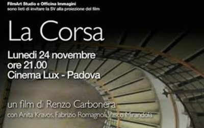 """Il cortometraggio """"La Corsa"""" con Fabrizio Romagnoli"""