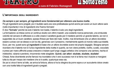 12 Articoli di Fabrizio Romagnoli su Teatro, Musica, Arte, Cinema