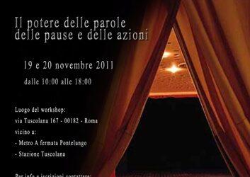 Workshop Intensivo di Recitazione – 19 e 20 novembre a Roma