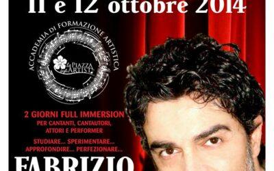 Workshop di recitazione e interpretazione canora l'11 e il 12 ottobre 2014 a Palermo