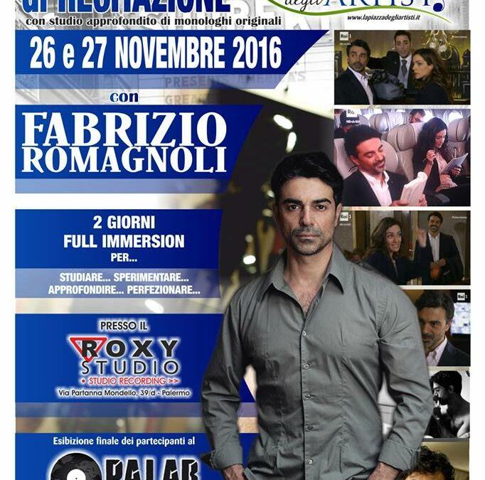 Workshop Intensivo di Recitazione il 26 e 27 novembre 2016 a La Piazza degli Artisti (Palermo)