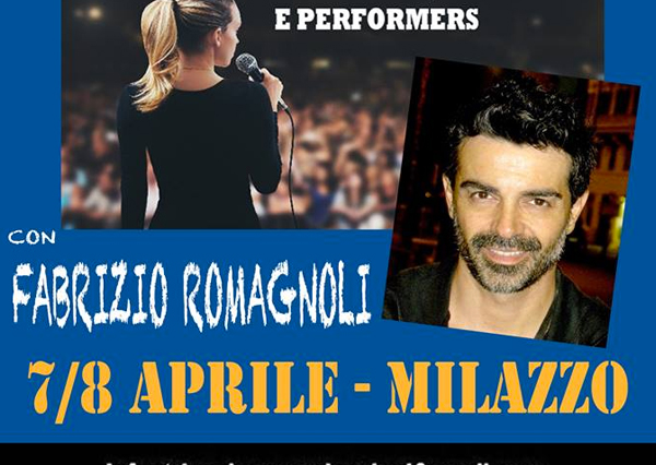 Workshop di interpretazione canora di Fabrizio Romagnoli il 7 e 8 aprile 2018 a San Filippo del Mela – Milazzo (ME)