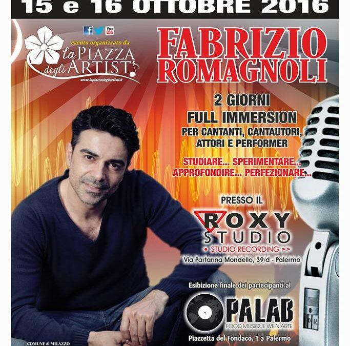 Workshop di interpretazione canora il 15 e 16 ottobre 2016 a Palermo