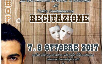 Workshop Intensivo di Recitazione il 7 e 8 ottobre 2017 a La Piazza degli Artisti (Palermo)