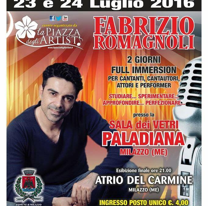 Workshop di interpretazione canora il 23 e 24 luglio a Milazzo (ME)