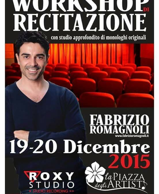 Workshop Intensivo di Recitazione il 19 e 20 dicembre 2015 a La Piazza degli Artisti (Palermo)