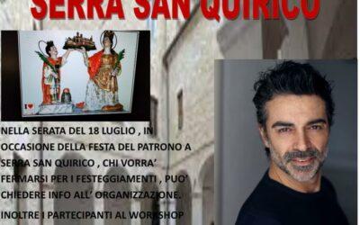 Workshop di recitazione il 17 e 18 luglio 2021 a Serra San Quirico (AN)